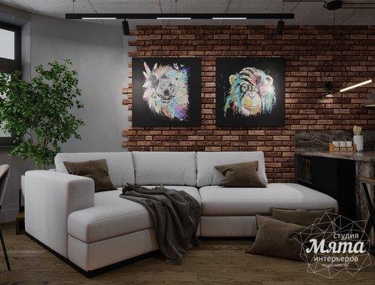 Дизайн интерьера квартиры в стиле лофт ЖК Солнечный Остров Екатеринбург