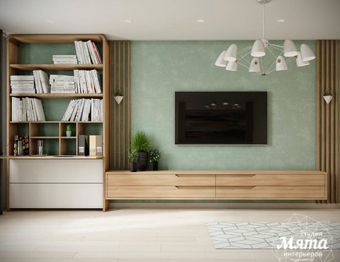 Дизайн интерьера двухкомнатной квартиры в ЖК Лига чемпионов